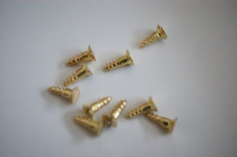 "4"" x 3/8""Brass Slotted Screw"